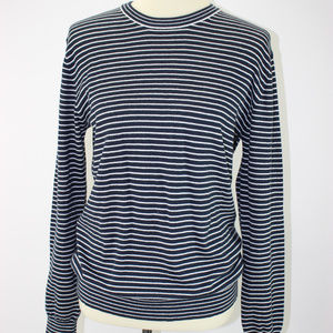 Vince Navy White Stripe Nautical Sweater